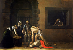 The beheading of Saint John the Baptist